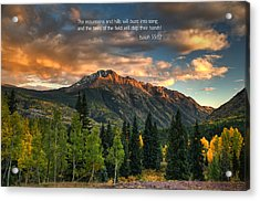 Scripture And Picture Isaiah 55 12 Acrylic Print