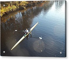 Sculling The Firth II Acrylic Print by James Potts