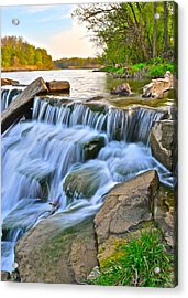 Sculpted Falls Acrylic Print by Frozen in Time Fine Art Photography