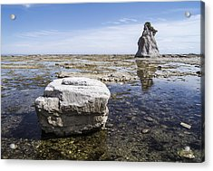 Acrylic Print featuring the photograph Sculpted Rock On Naked Isld by Arkady Kunysz