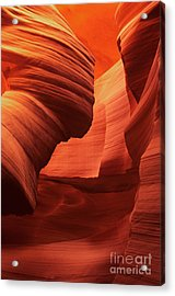 Acrylic Print featuring the photograph Sculpted Sandstone Upper Antelope Slot Canyon Arizona by Dave Welling