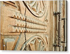 Sculpted Wooden Door Acrylic Print