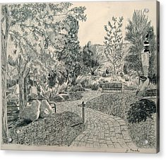 Sculpture Garden In The Fall Acrylic Print by Joanna Franke