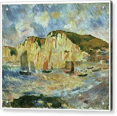 Sea And Cliffs Acrylic Print by Pierre-Auguste Renoir