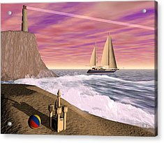 Sea And Sand Acrylic Print