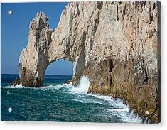 Sea Arch El Arco De Cabo San Lucas Acrylic Print by Allan Levin