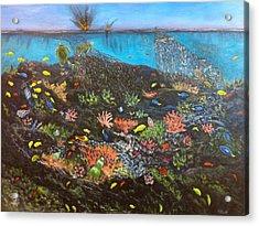 Sea Assault Acrylic Print