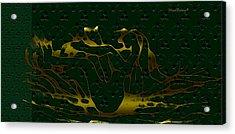 Sea Bath Acrylic Print by Asok Mukhopadhyay