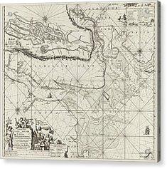 Sea Chart Of Part Of The Elbe, The Weser And Jadebusen Acrylic Print by Jan Luyken And Johannes Van Keulen I