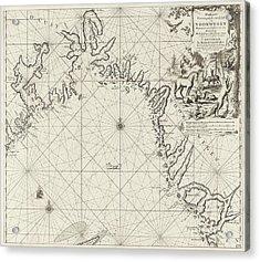 Sea Chart Of The Coast Of Norway, Jan Luyken Acrylic Print by Jan Luyken And Johannes Van Keulen (i)