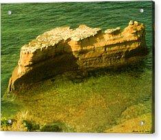 Acrylic Print featuring the photograph Sea Cliffs by Amanda Holmes Tzafrir