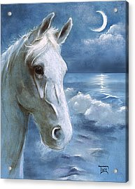 Acrylic Print featuring the painting Sea Dreams In Blue by Terry Webb Harshman