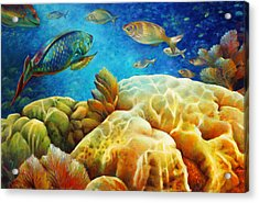 Acrylic Print featuring the painting Sea Escape I -27x40 by Nancy Tilles