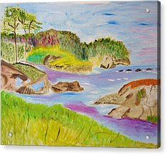 Acrylic Print featuring the painting Sea Escape by Meryl Goudey