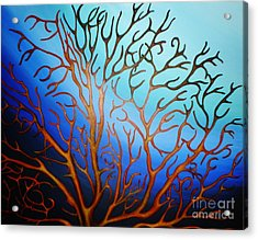 Sea Fan In Backlight Acrylic Print