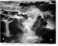 Sea Foam Falls Acrylic Print