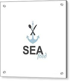Sea Food Logo Acrylic Print
