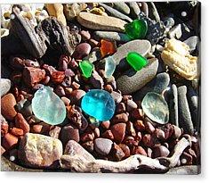 Sea Glass Art Prints Beach Seaglass Acrylic Print by Baslee Troutman
