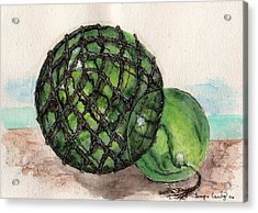 Sea Glass Floats Acrylic Print