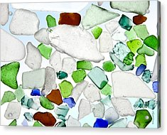 Sea Glass Acrylic Print by Michelle Wiarda
