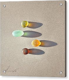 Sea Glass - The Race Acrylic Print by Elena Kolotusha