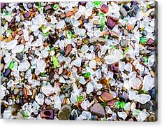 Acrylic Print featuring the photograph Sea Glass Treasures At Glass Beach by Priya Ghose