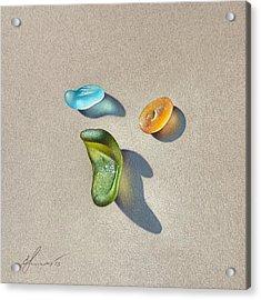 Sea Glass - Trio Acrylic Print by Elena Kolotusha