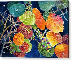 Acrylic Print featuring the painting Sea Grapes II by Roger Rockefeller