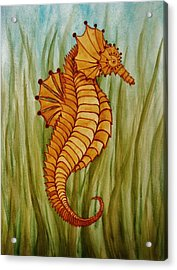 Acrylic Print featuring the painting Sea Horse by Katherine Young-Beck