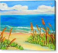 Sea Oat Path Acrylic Print by Shelia Kempf