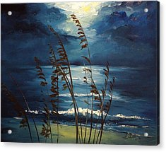 Sea Oats And Moonlight Acrylic Print