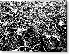 Acrylic Print featuring the photograph Sea Of Bicycles 3 by Joey Agbayani