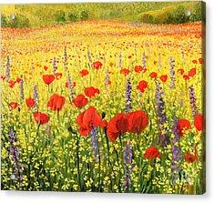 Sea Of Blossom Acrylic Print