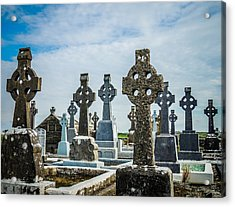 Sea  Of Celtic Crosses Acrylic Print