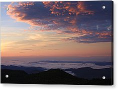 Sea Of Clouds Blue Ridge Mountains Acrylic Print