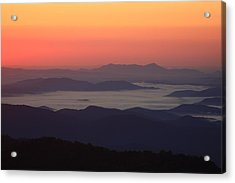 Sea Of Clouds-blue Ridge Mountains Nc Acrylic Print