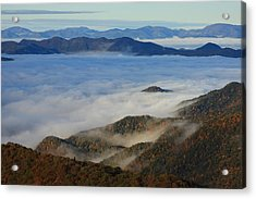 Sea Of Clouds In The Courthouse Valley-blue Ridge Parkway Acrylic Print