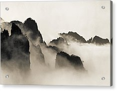 Sea Of Clouds Acrylic Print by King Wu