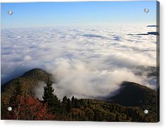 Sea Of Clouds On The Blue Ridge Parkway Acrylic Print