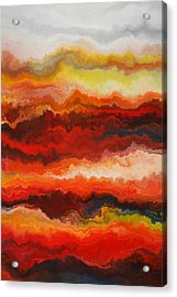 Sea Of Fire  Acrylic Print by Andrada Anghel
