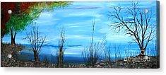 Sea Of Galiley Shore Acrylic Print by Roni Ruth Palmer