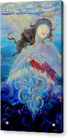 Sea Of The Soul Figure Detail Acrylic Print