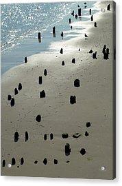 Sea Piles Acrylic Print by Deborah  Crew-Johnson