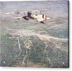 Sea-plane Flying Over Damascus Acrylic Print