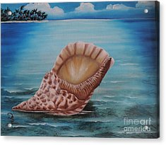 Acrylic Print featuring the painting Sea Shell by Dianna Lewis
