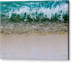 Sea Shore Colors Acrylic Print