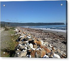 Sea Shore With Rocks Acrylic Print by Ron Torborg