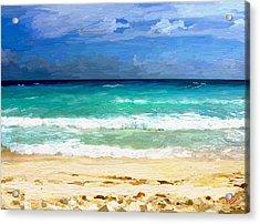 Sea Sky Sand Acrylic Print
