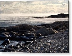 Sea-smoke At Schoodic Acrylic Print by Brent L Ander