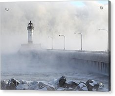 Sea Smoke Acrylic Print by Gregory Israelson